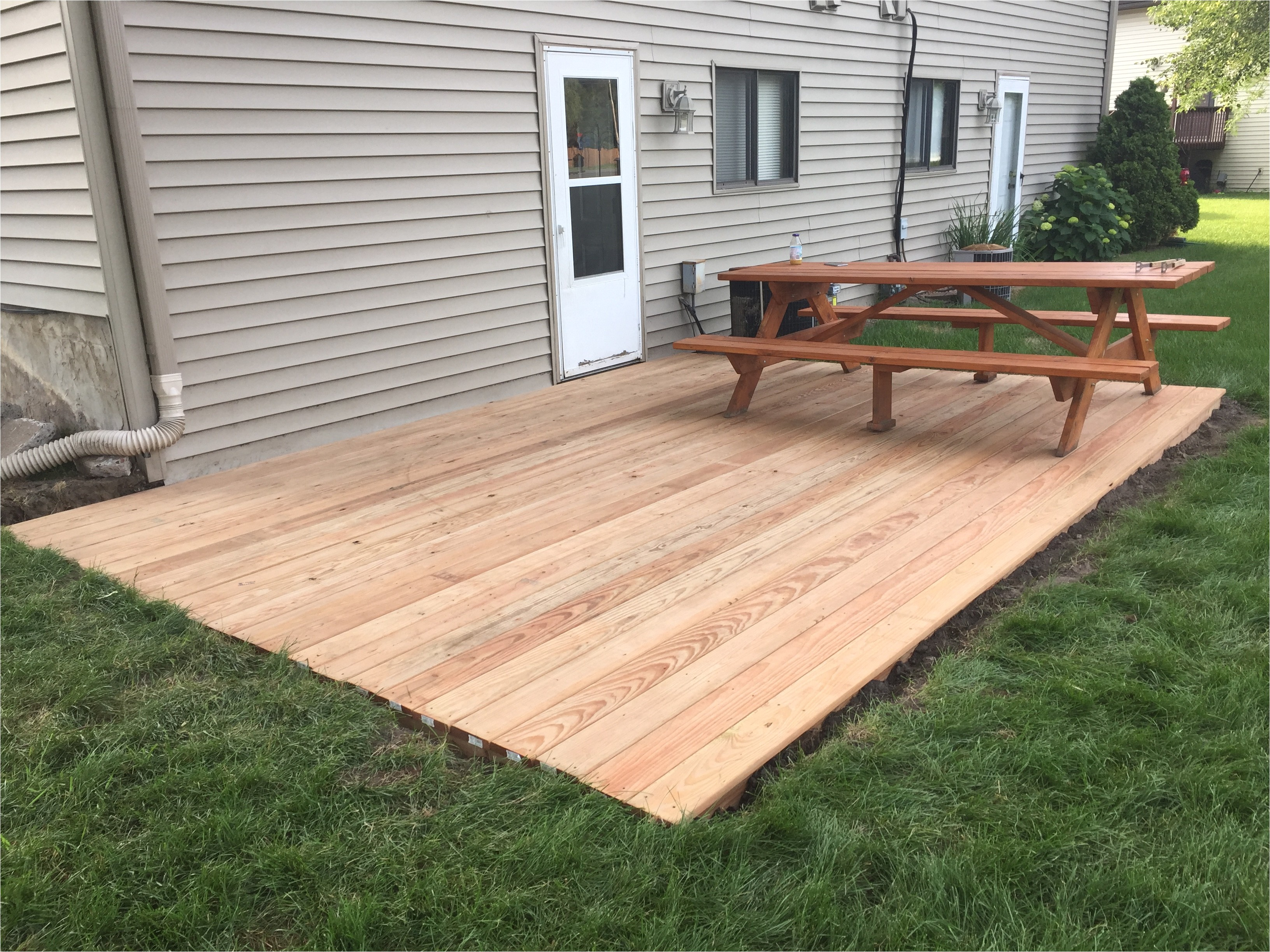 ground level deck home depot build a deck stand alone deck plans