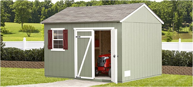 home depot wood storage sheds for sale