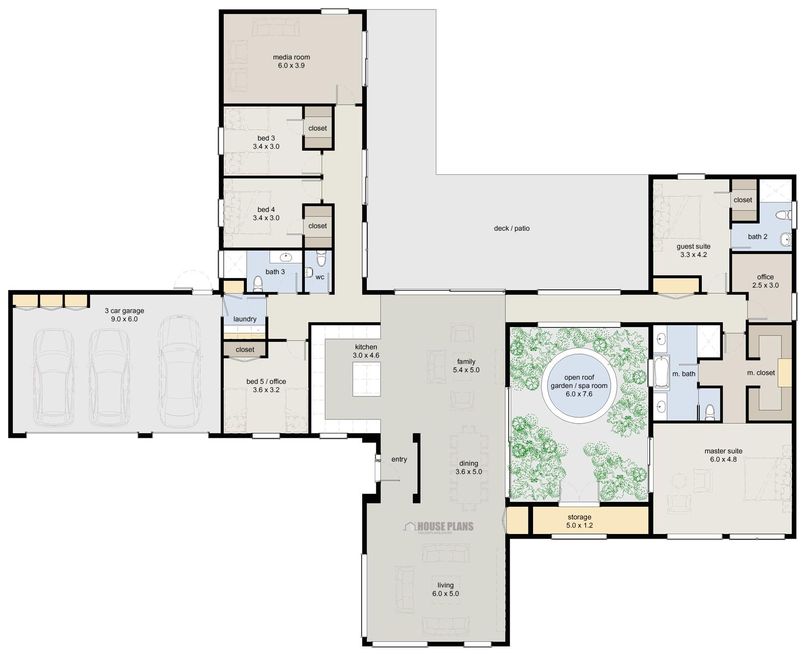 Home Design Plans Zen Lifestyle 5 5 Bedroom House Plans New Zealand Ltd