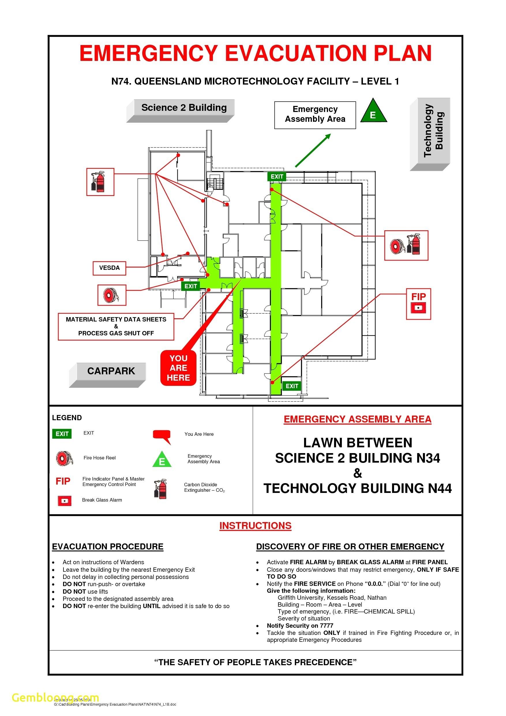 emergency preparedness plan template