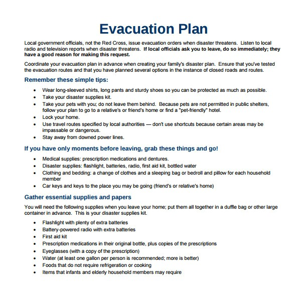 home disaster plan