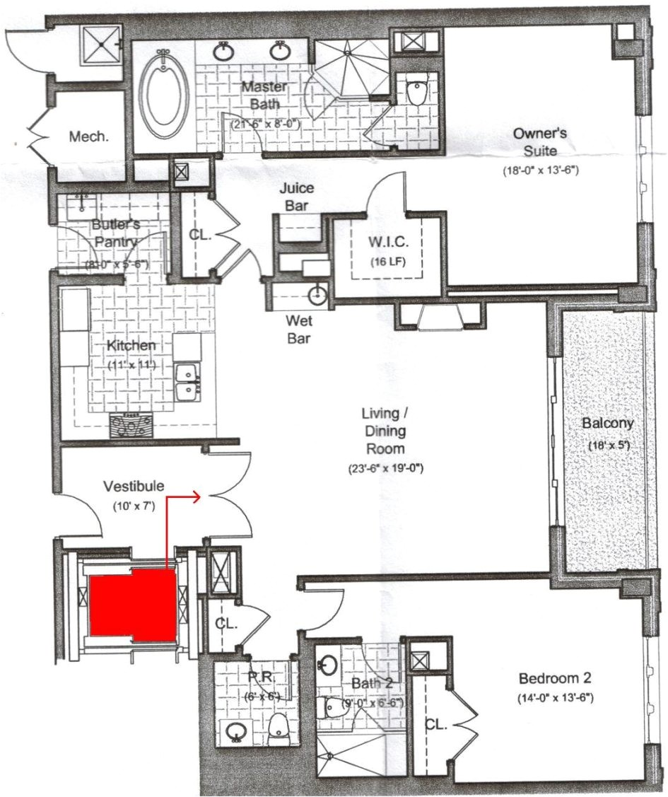 house floor plans with elevators
