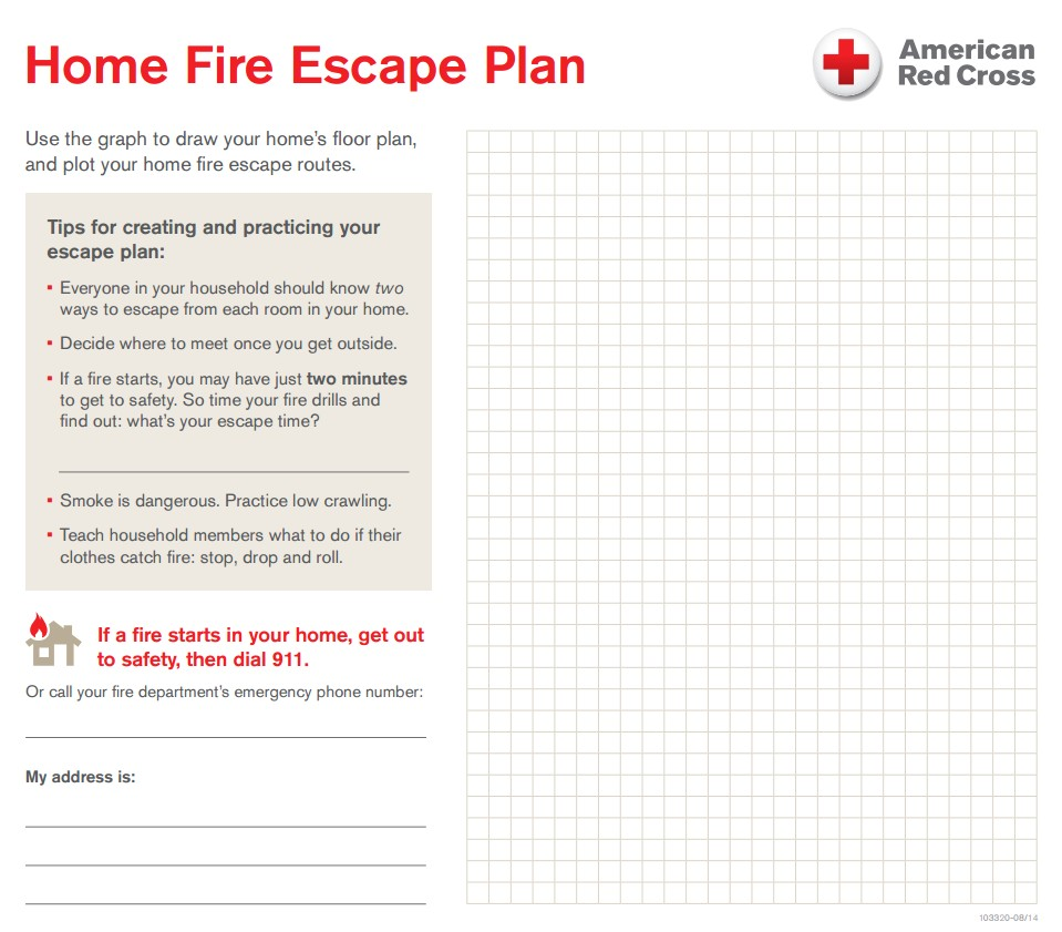 Home Emergency Plan Template Your Home Fire Escape Plan Central south Texas Region