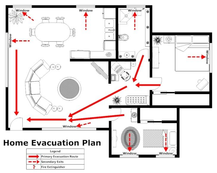 house evacuation plan