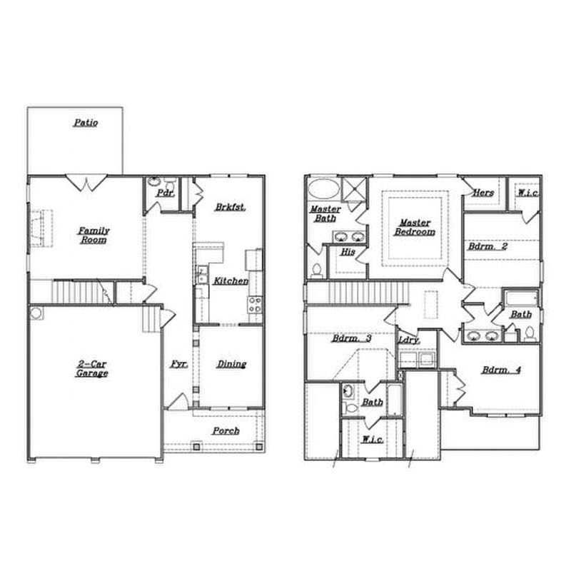 family house plans 4 bedrooms