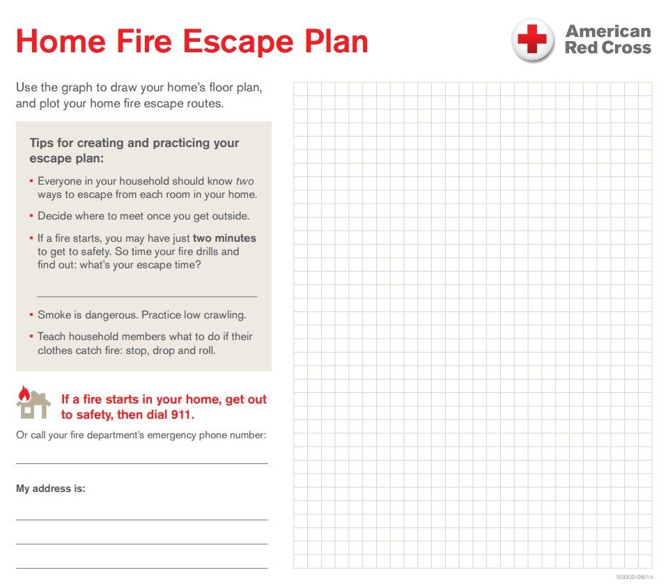 Home Fire Escape Plan Template Your Home Fire Escape Plan Central south Texas Region
