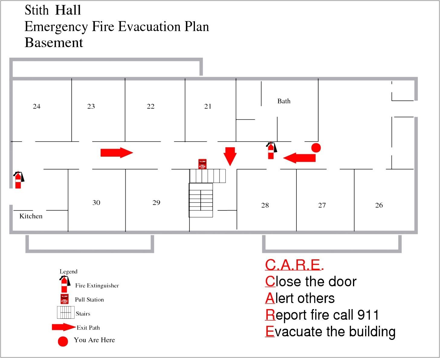 home fire evacuation plan template