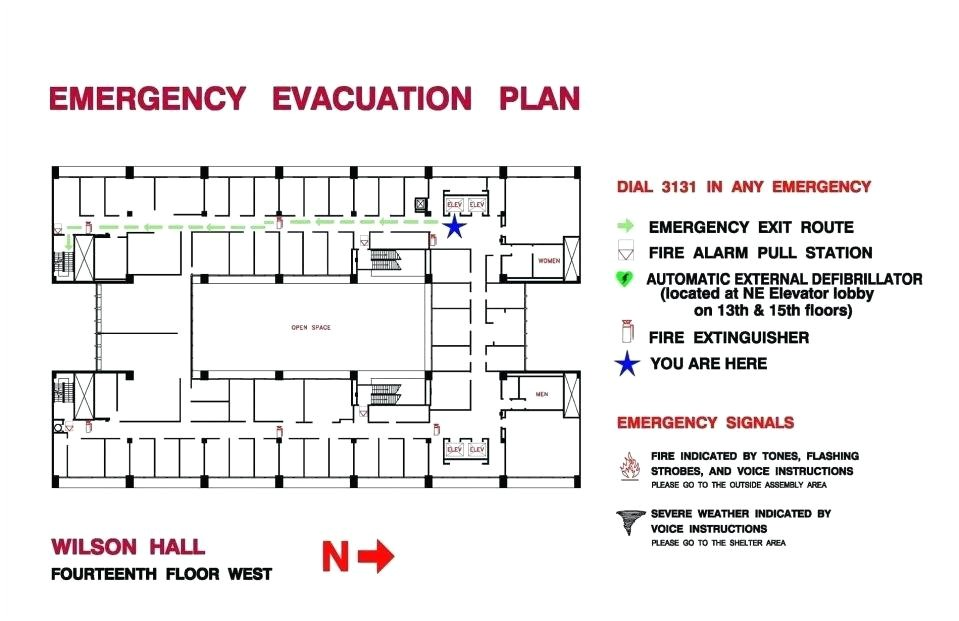 evacuation route template