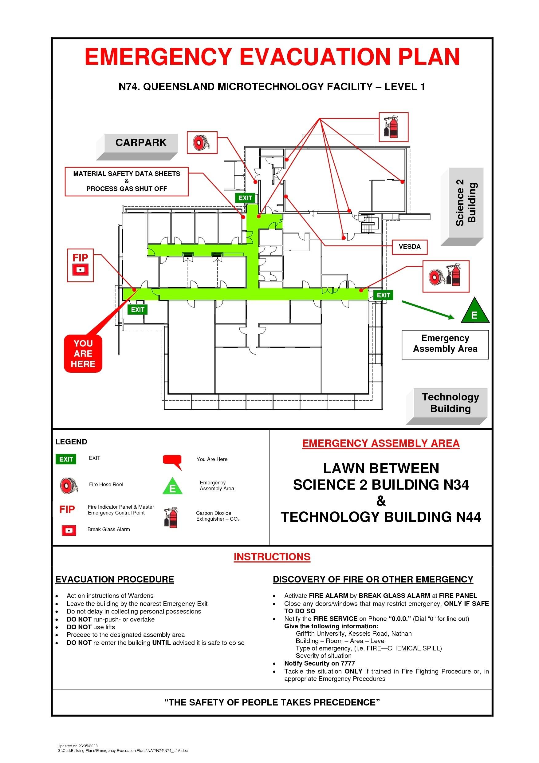 evacuation procedures template