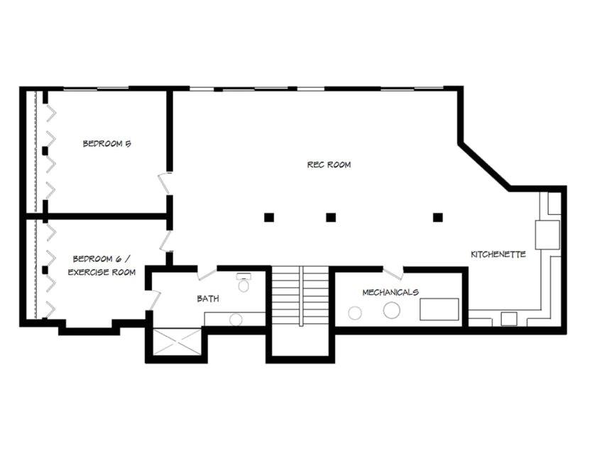 beautiful house plans with basement small walk out basement