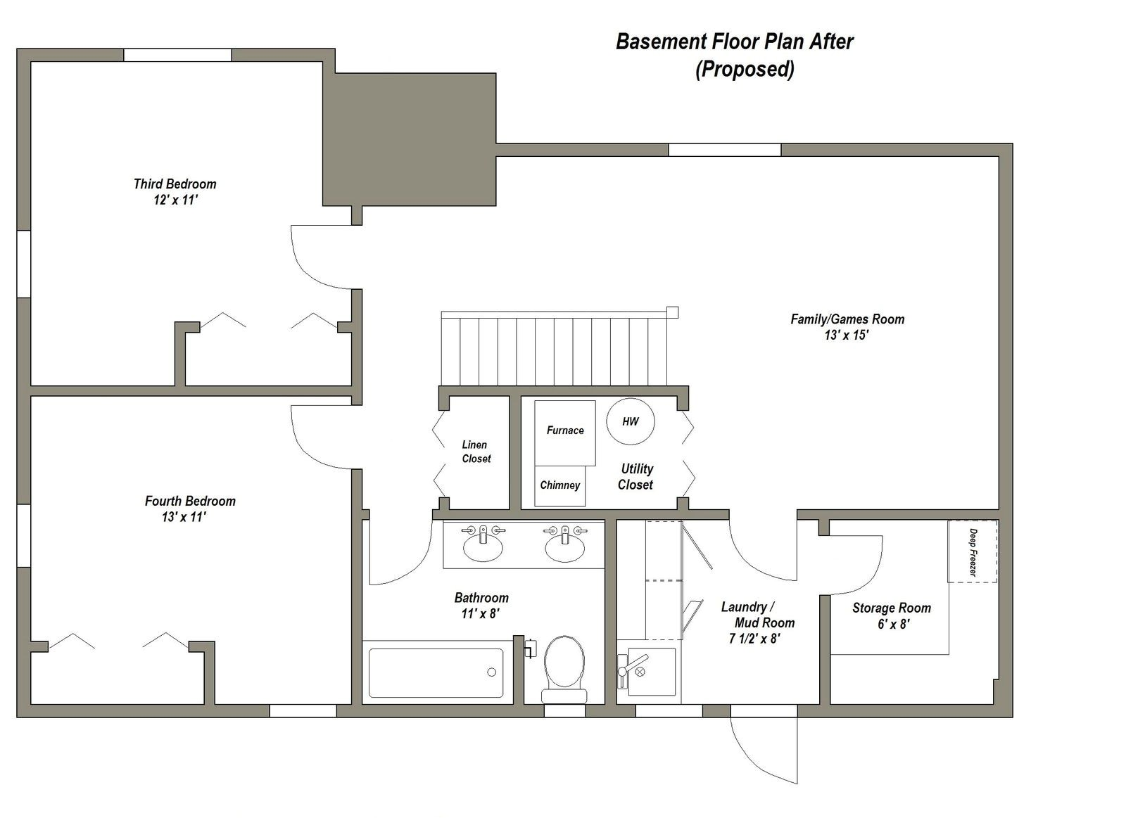 Home Floor Plans with Basement Finished Basement Floor Plans Finished Basement Floor