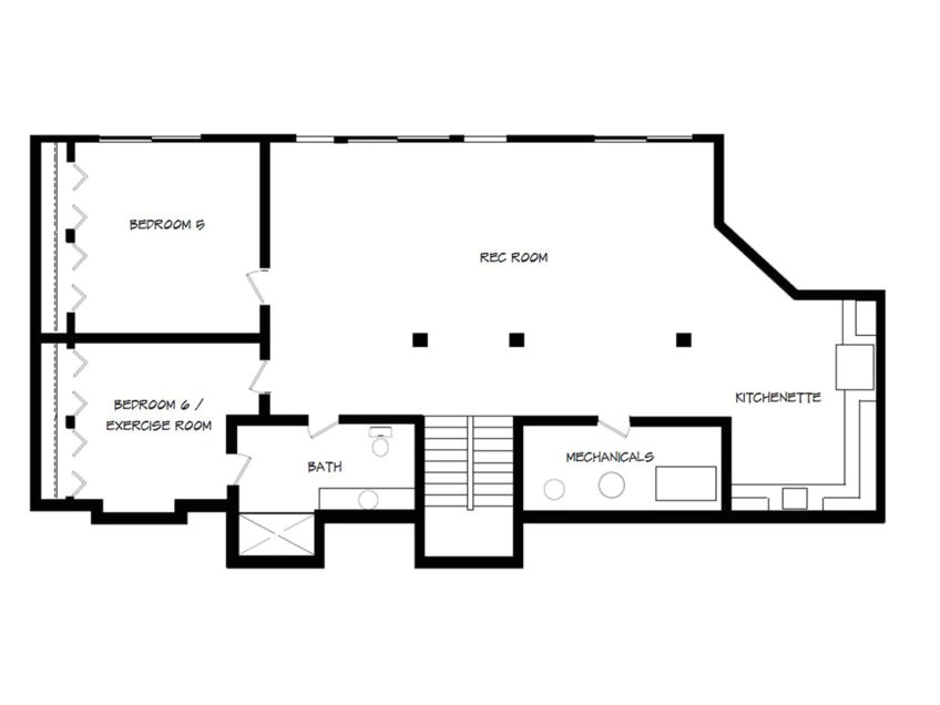 beautiful house plans with basement small walk out basement