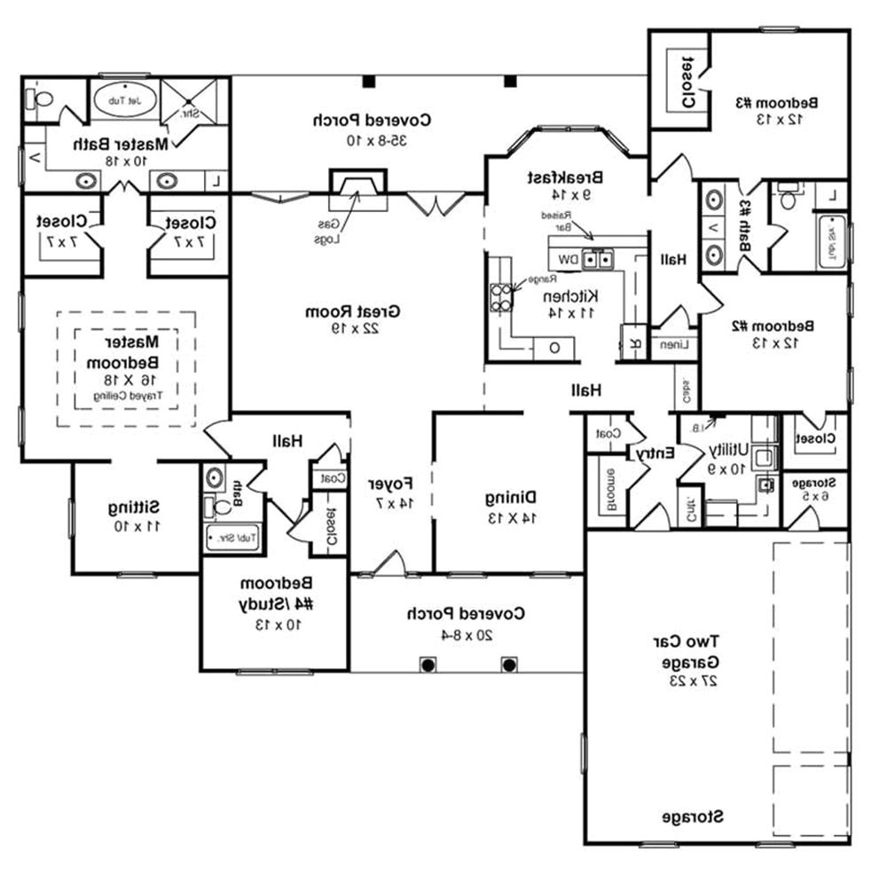 one story floor plans with basements lake house plans e275f6ea38267ffd