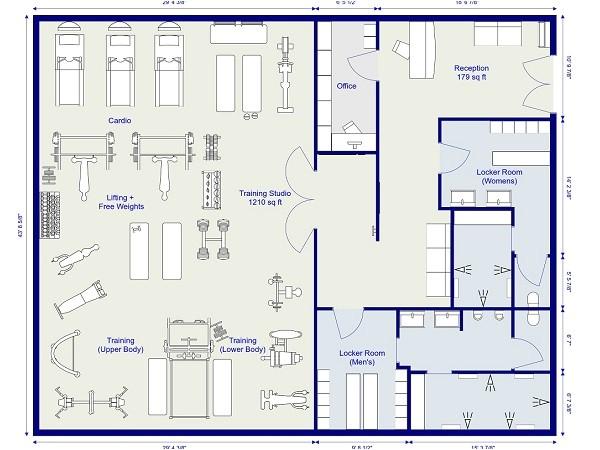 home gym floor plan
