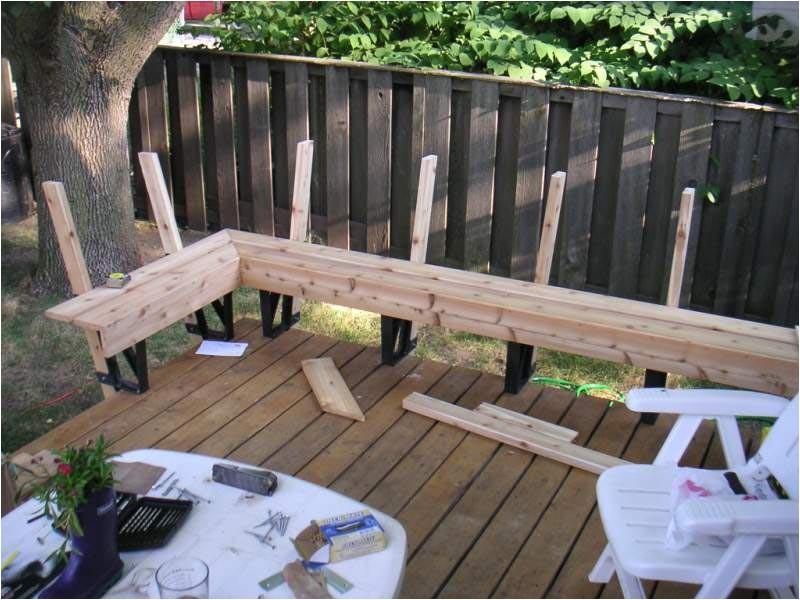 deck bench brackets home hardware