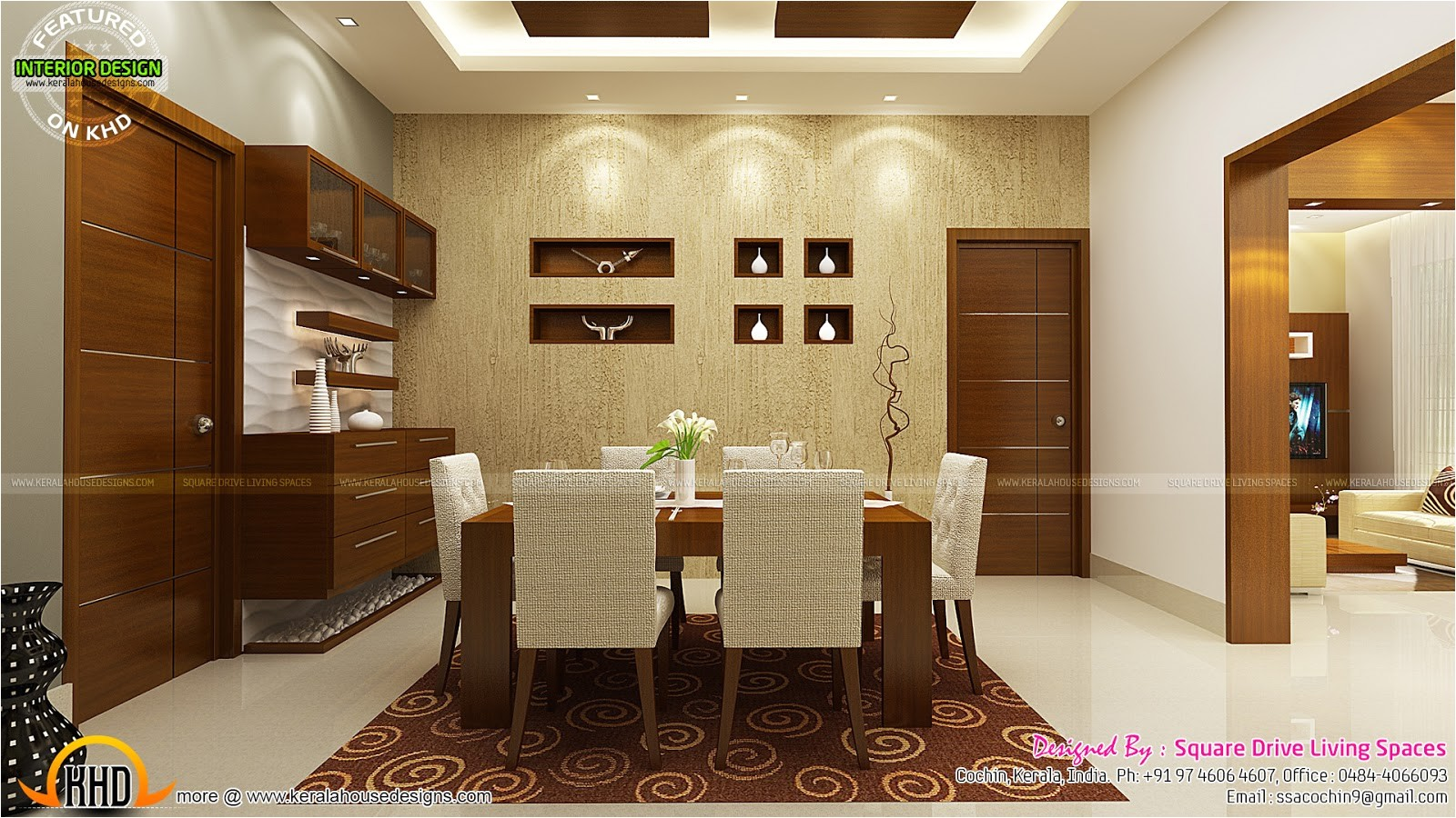 contemporary kitchen dining and living