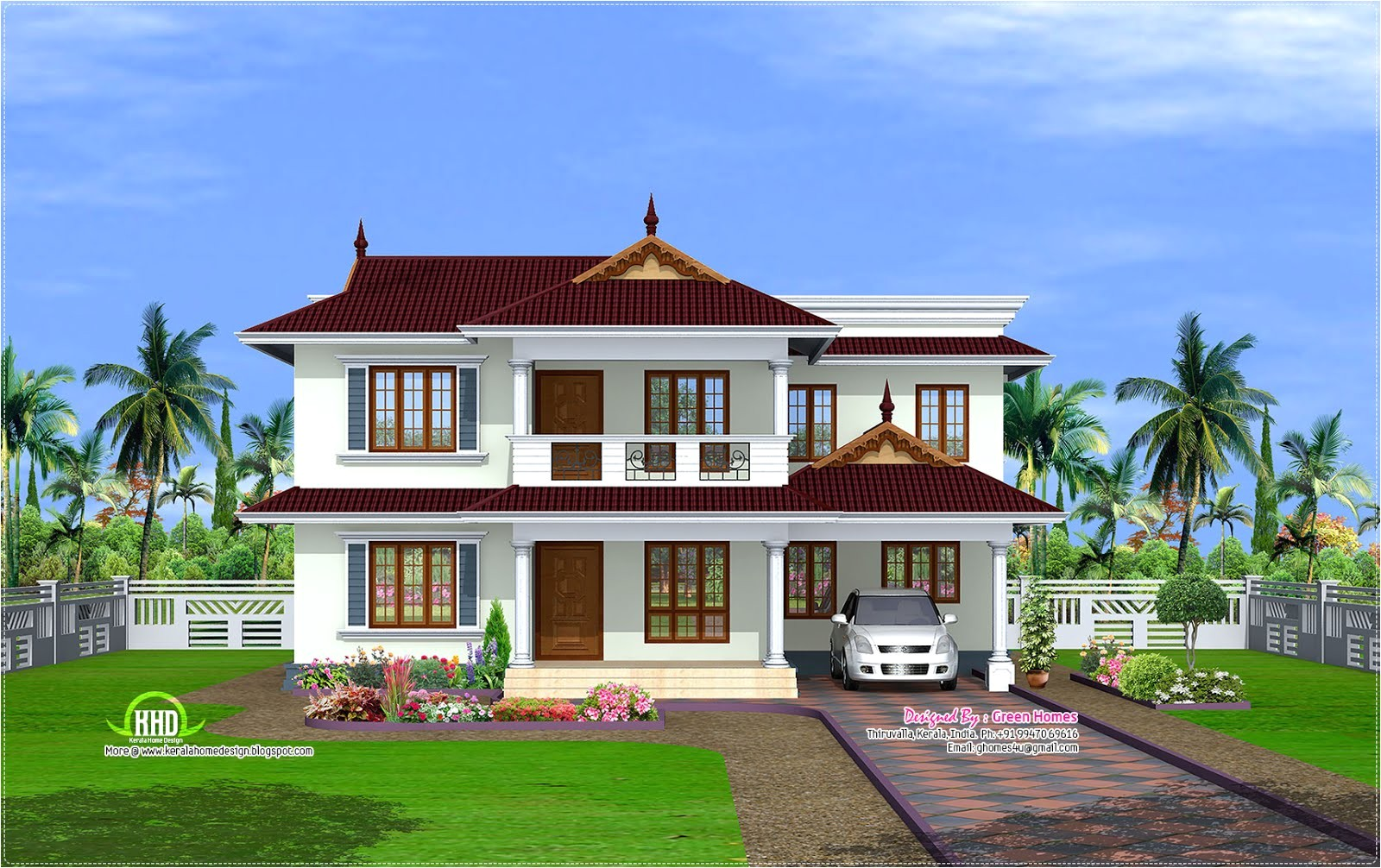 2600 sqfeet kerala model house