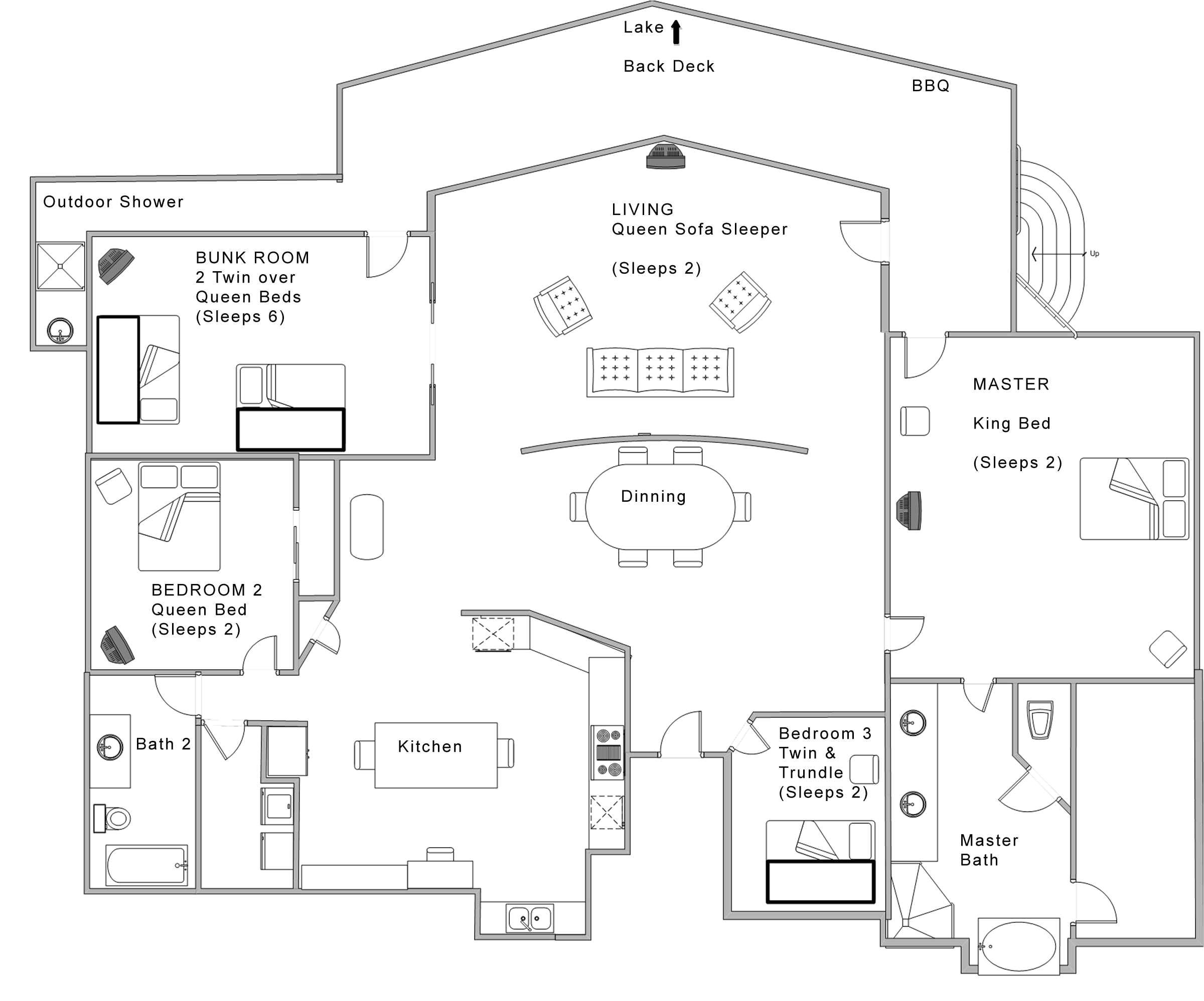 Home Open Floor Plans Best Open Floor House Plans Cottage House Plans