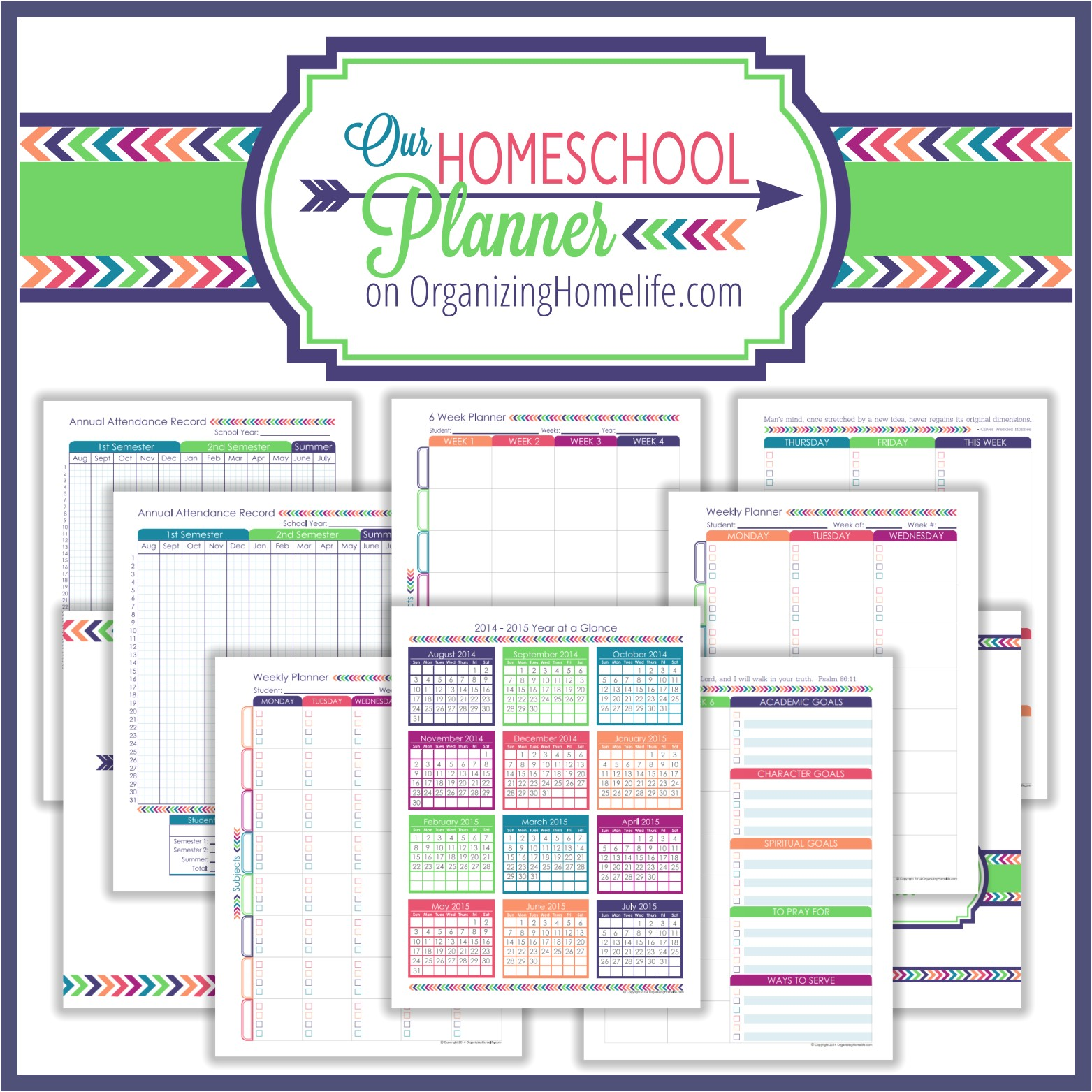 back school printable organizing bundle