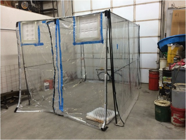 homemade spray booth