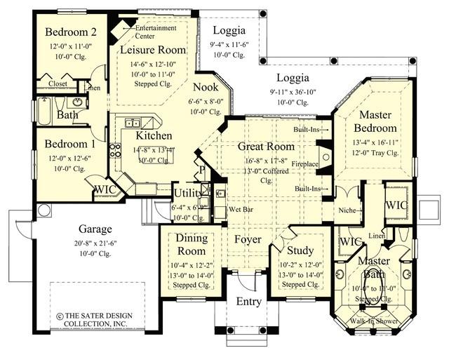 sater design collections 6758 toscana home plan mediterranean floor plan miami