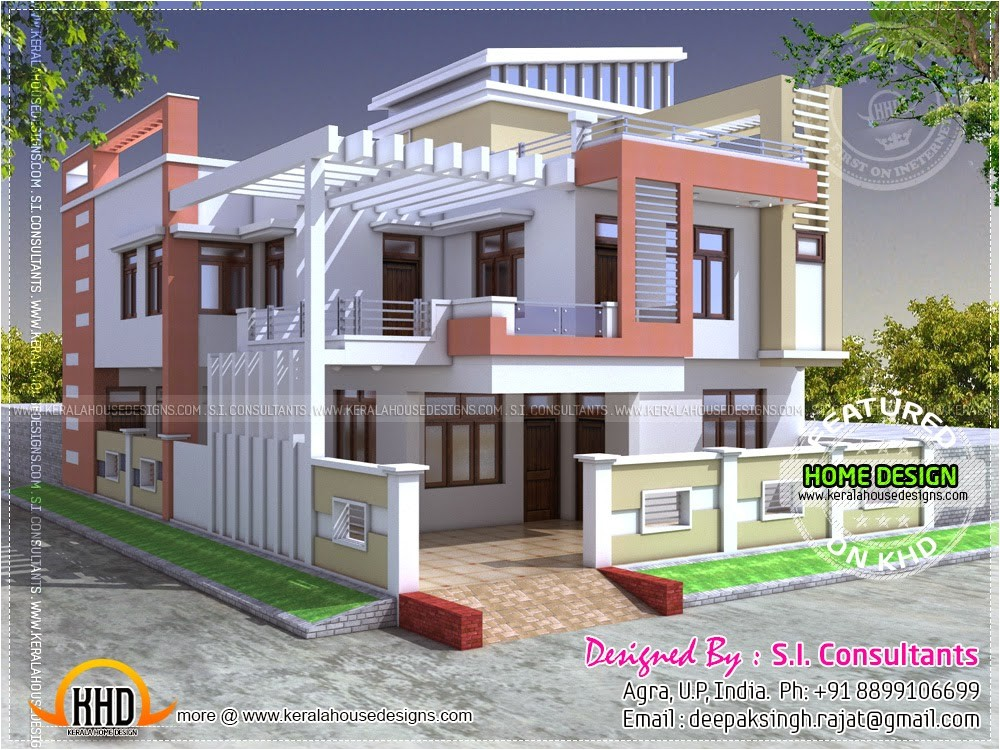 Home Plan Design India Modern Indian House In 2400 Square Feet Kerala Home