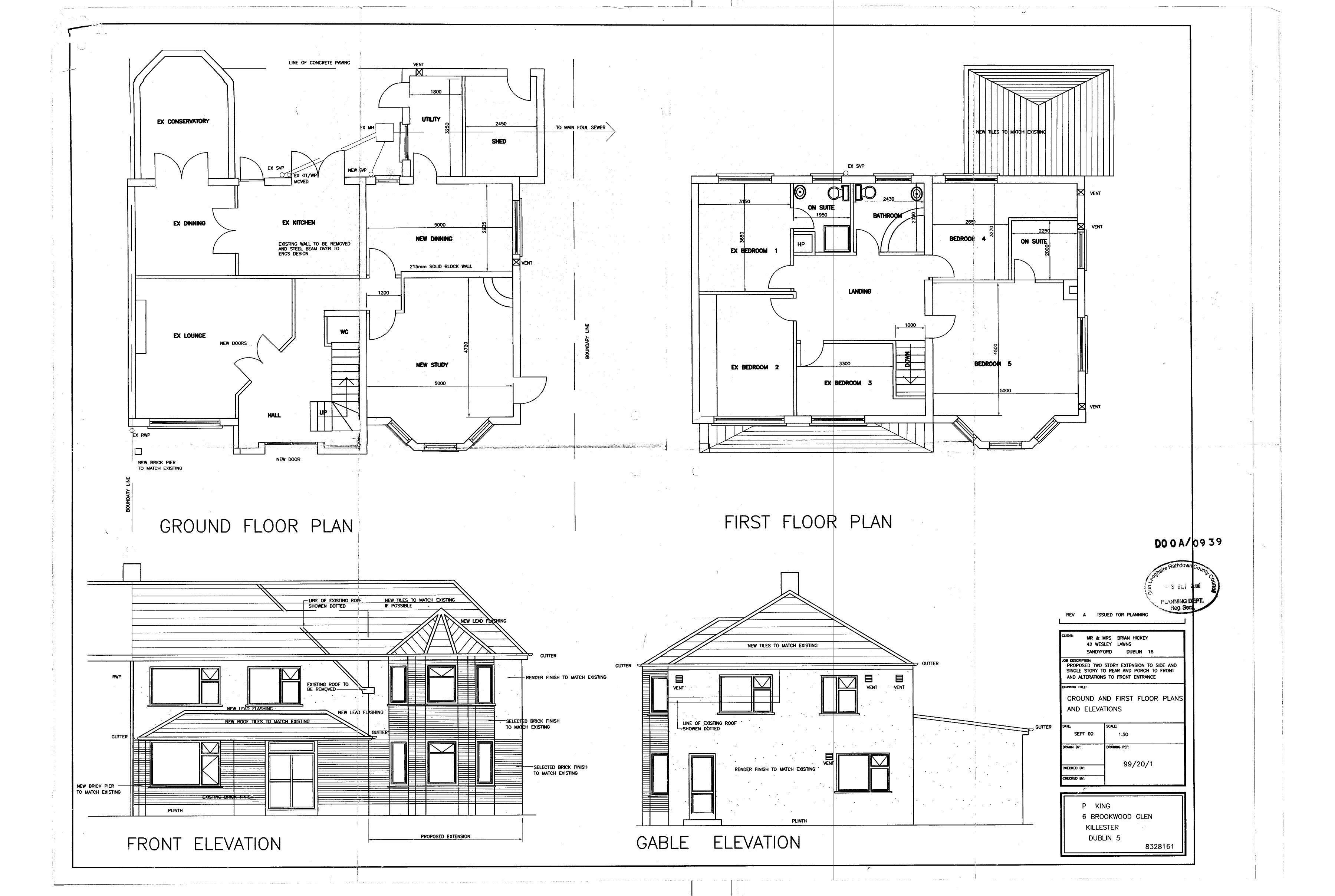 floor plan elevation bungalow house