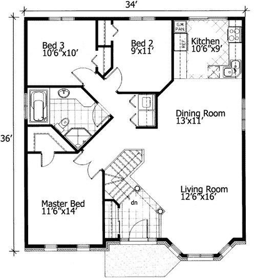 barrier free small house plan 90209pd