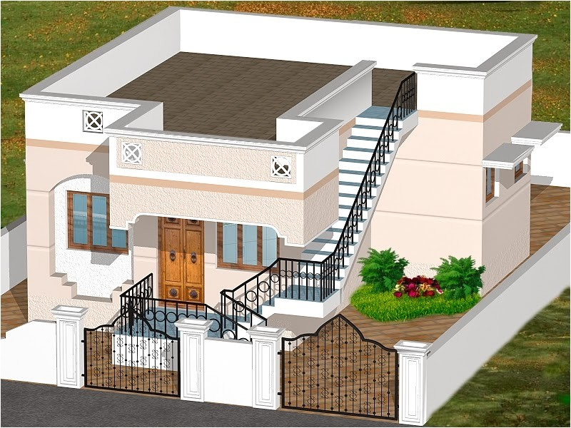 3d house plans indian style garden