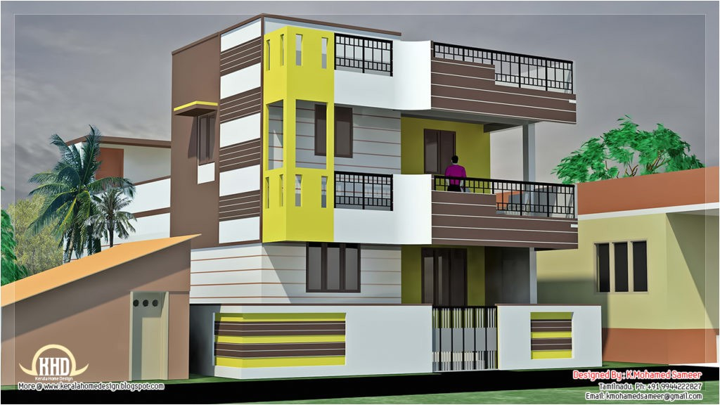 small villa house plans india