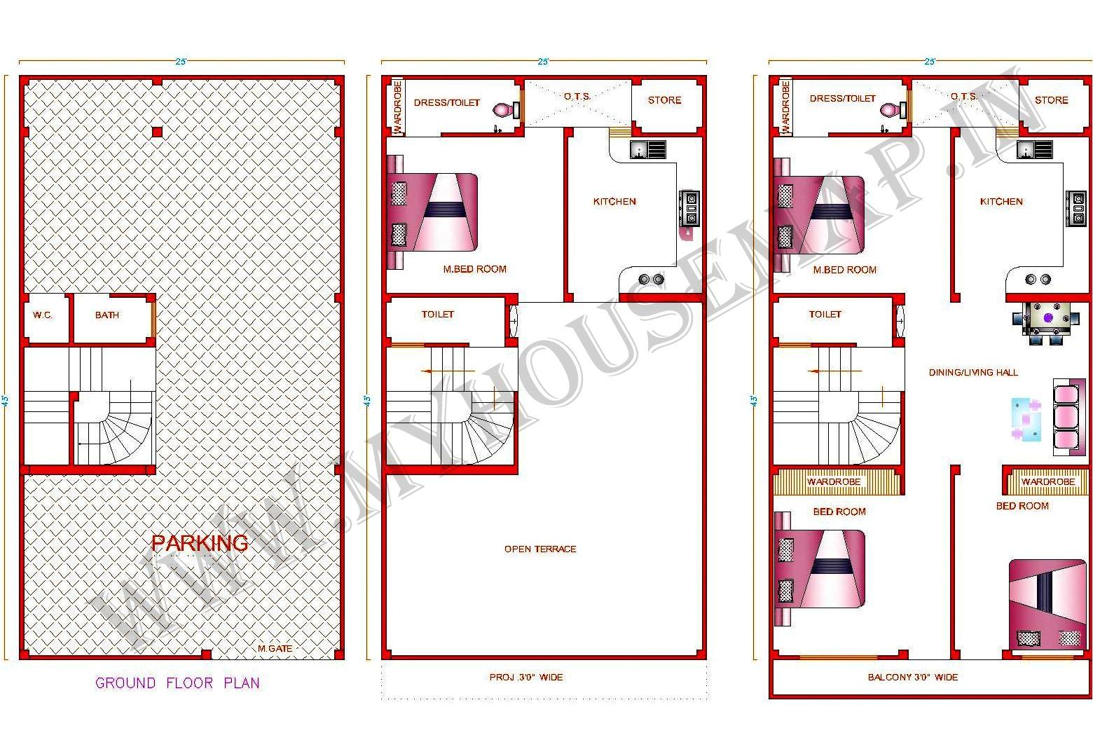 house map design sample elevation exterior 2