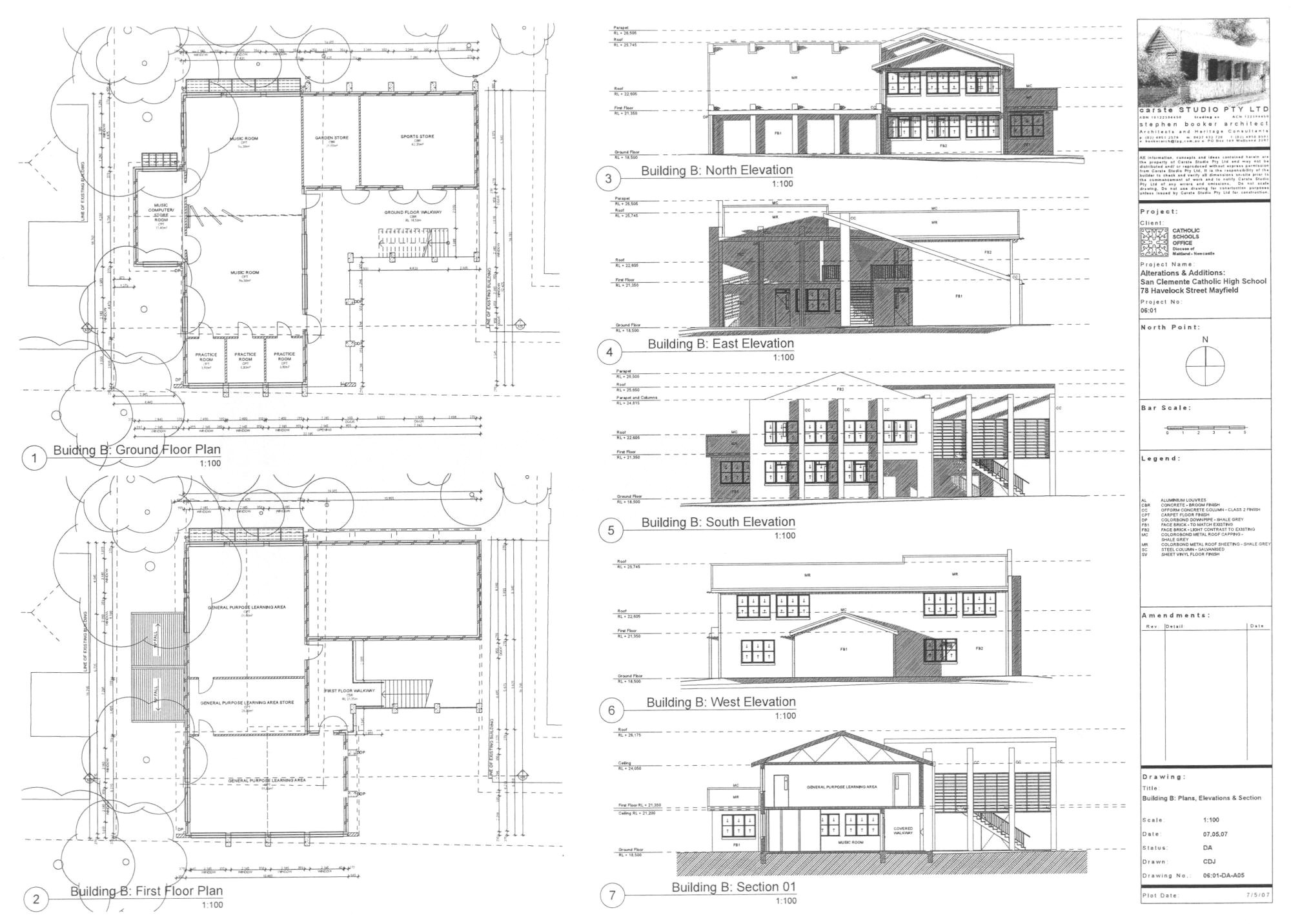 building plans and elevation