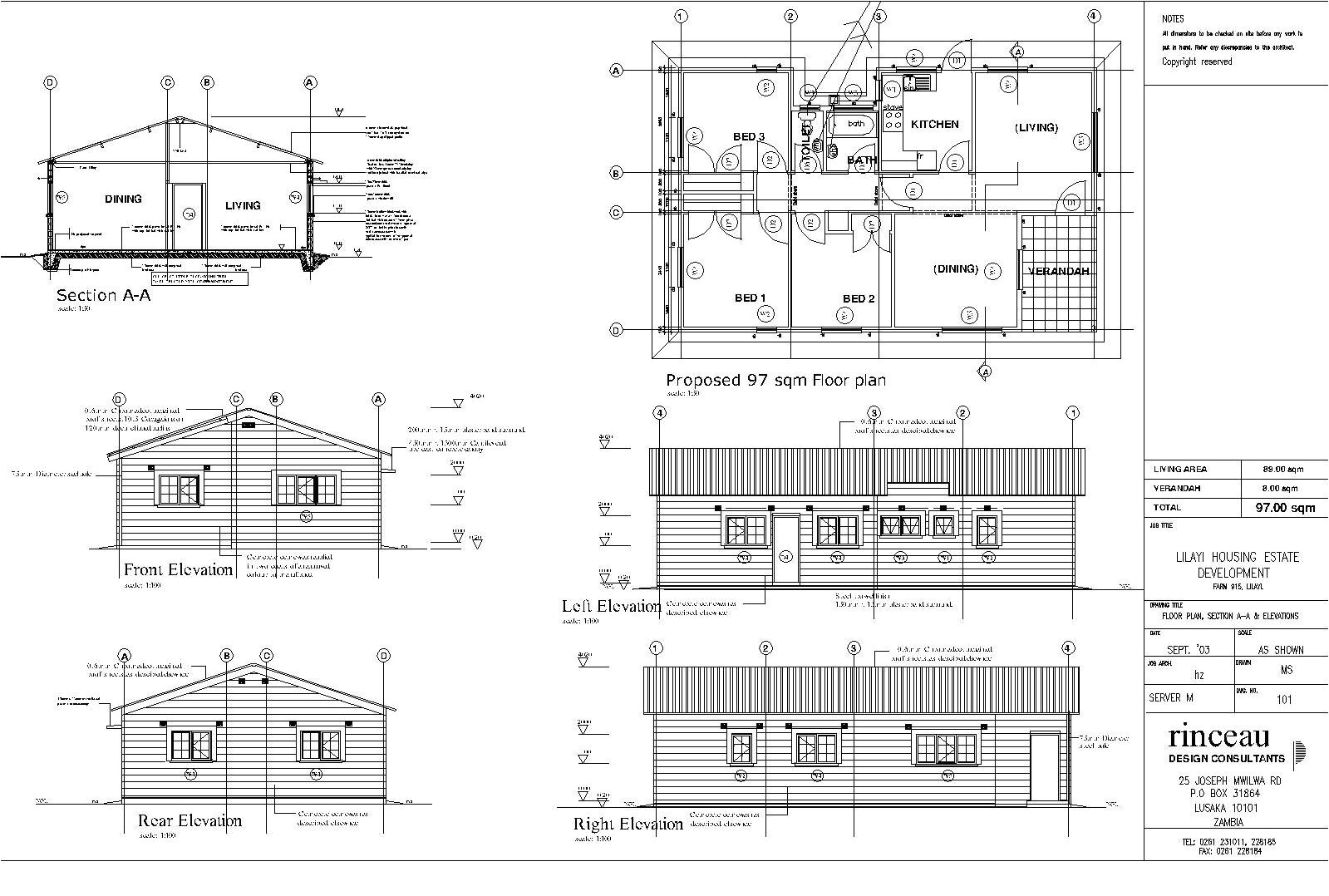 Home Plans and Elevations Duplex House Plans Sections Elevations