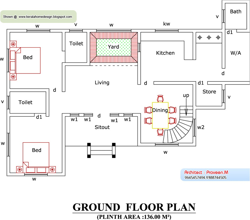 home plan and elevation 2388 sq ft