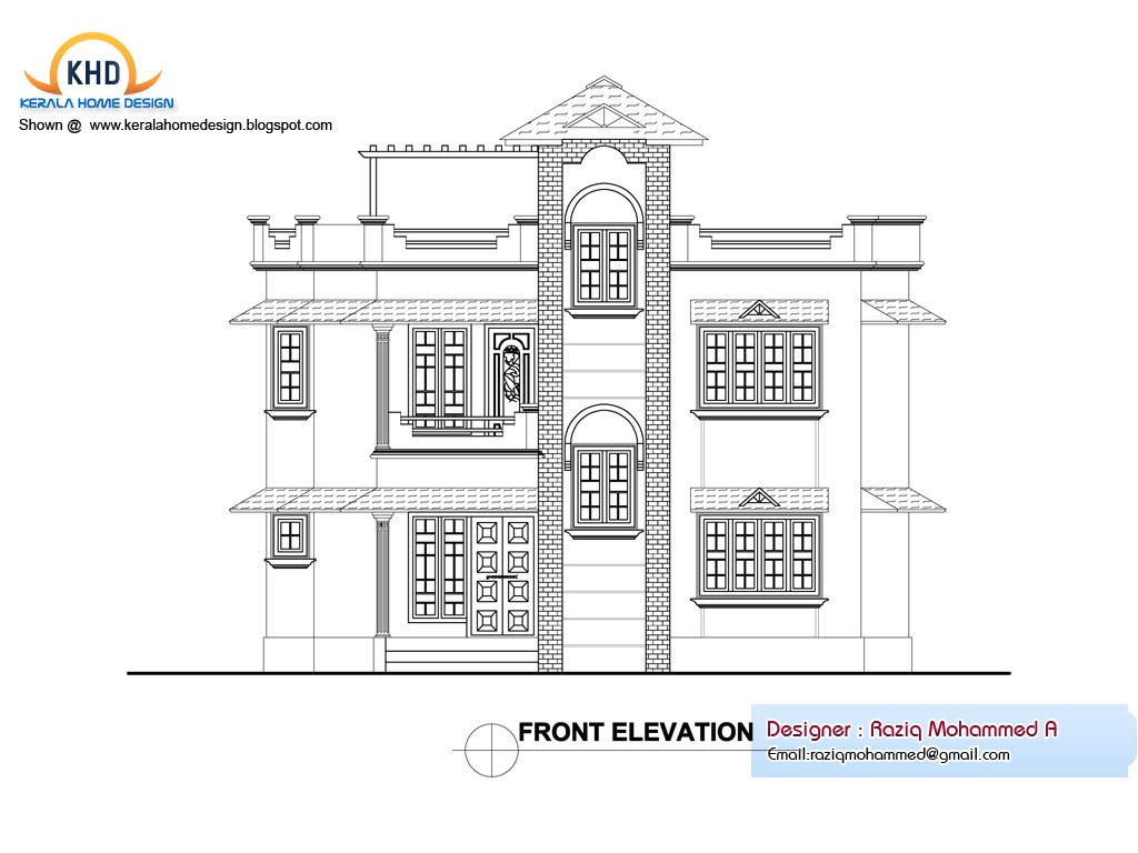 home plan and elevation 1