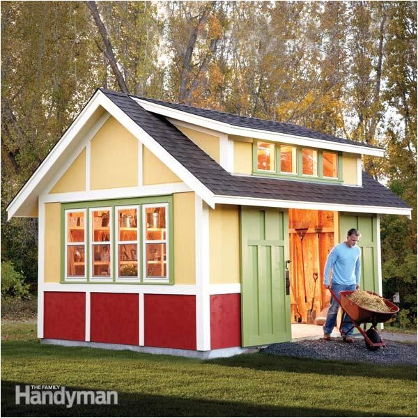 diy shed plans family handyman