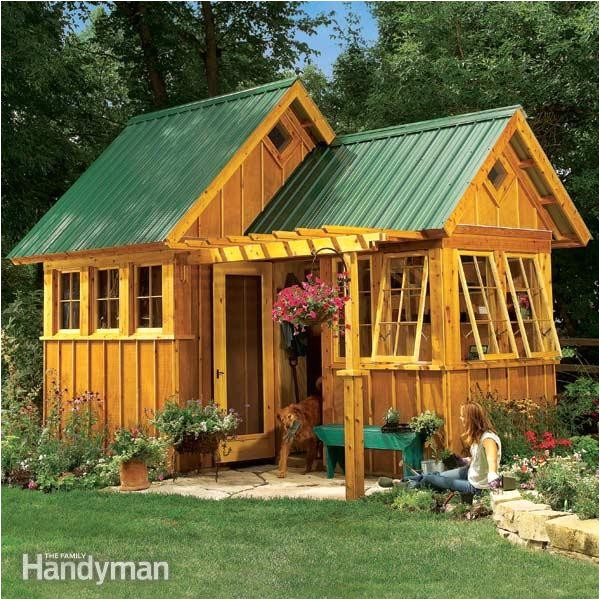 family handyman garden shed plans
