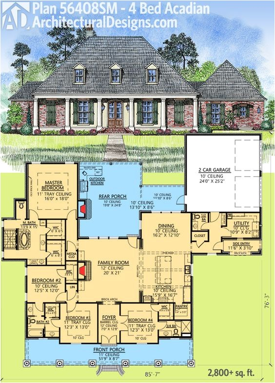 house plans outdoor entertaining
