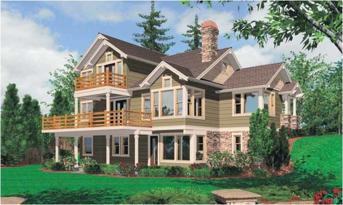 8 amazing house plans sloping lot hillside