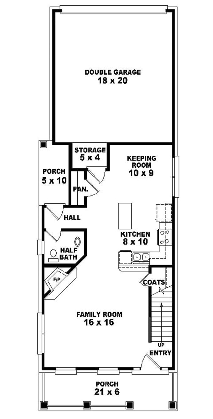 marvelous home plans for narrow lots 9 2 story narrow lot house plans