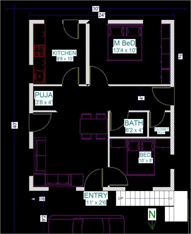 Home Plans forx40 Site 30 40 House Plans Vastu Escortsea