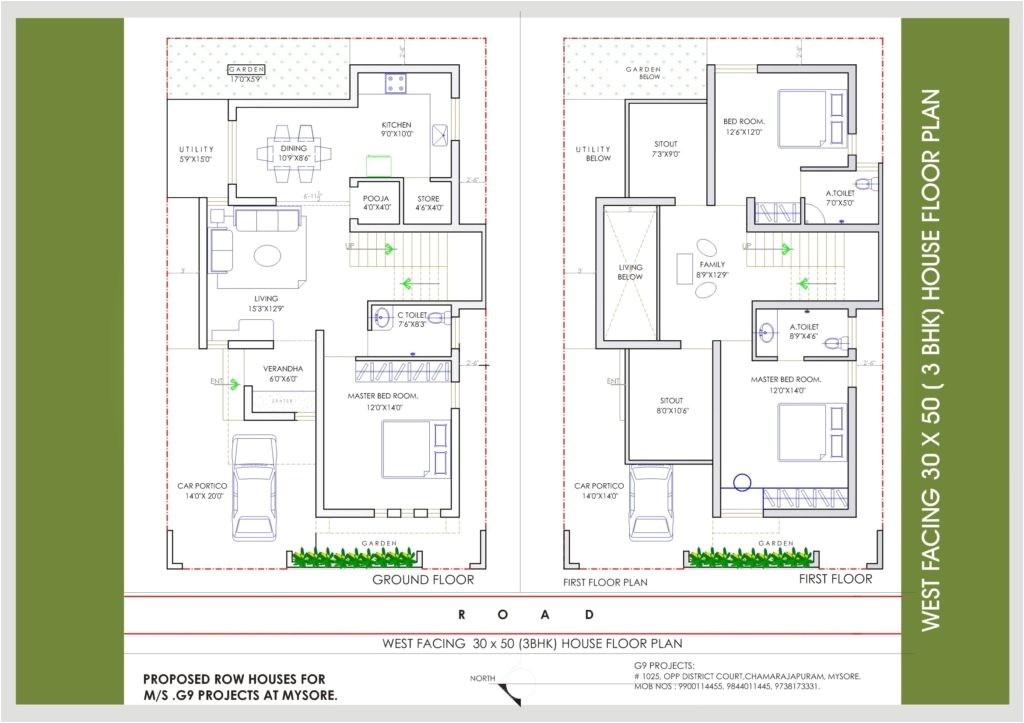 north facing house plans 30 40