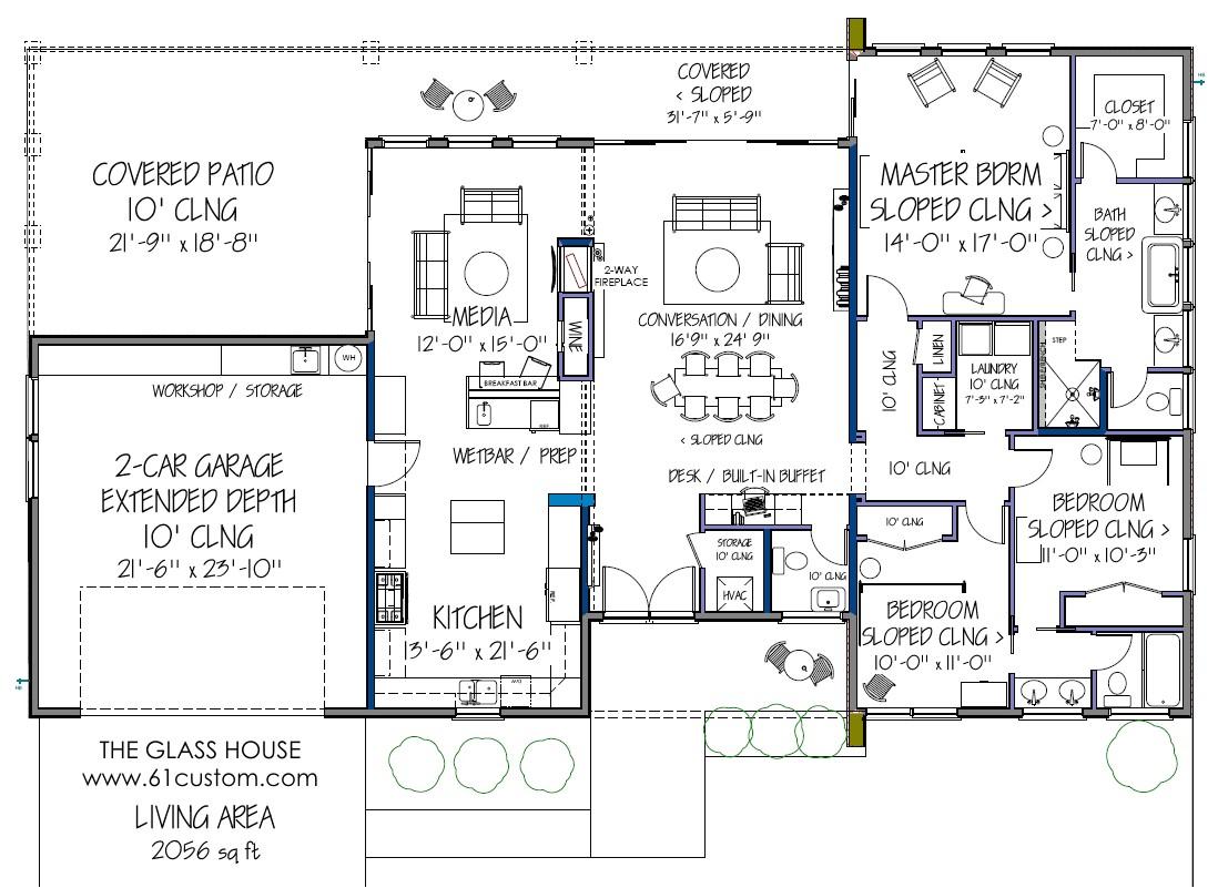 contemporary house plan d61 2056