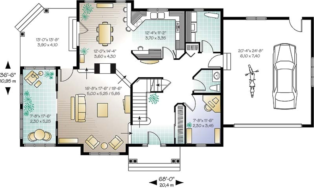 25647fdbf81ded4c small open concept house plans open floor plans small home