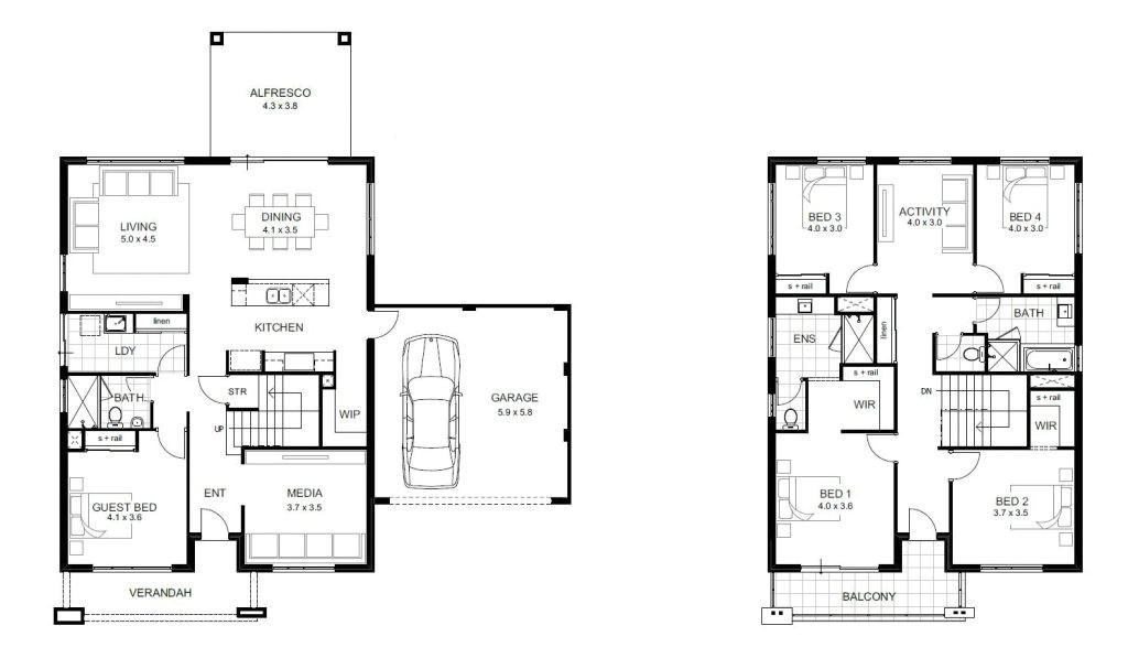 5 bedroom double storey house plans elegant 5 bedroom house designs perth double storey