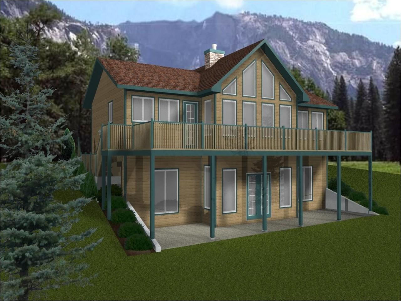 c035a4352eef9448 house plans with walkout basement walk out basement cabin plans