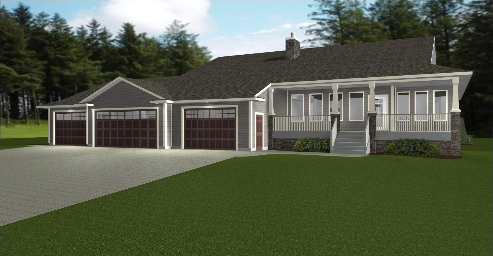 nice house plans with 3 car garage 4 ranch style house plans with garage