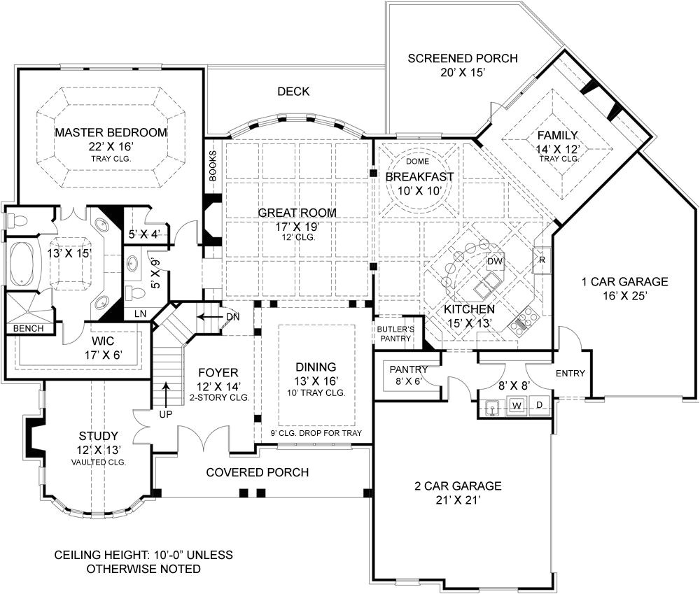 house plans with rear view