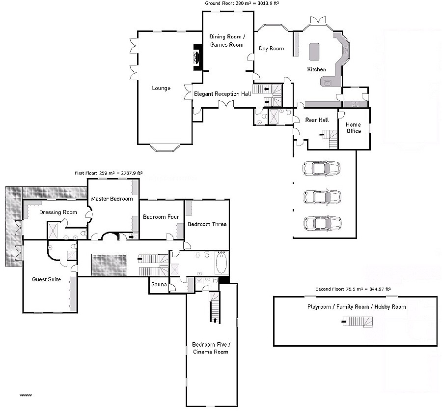 house plans with detached guest suite elegant 5 bedroom detached house for sale in oswestry