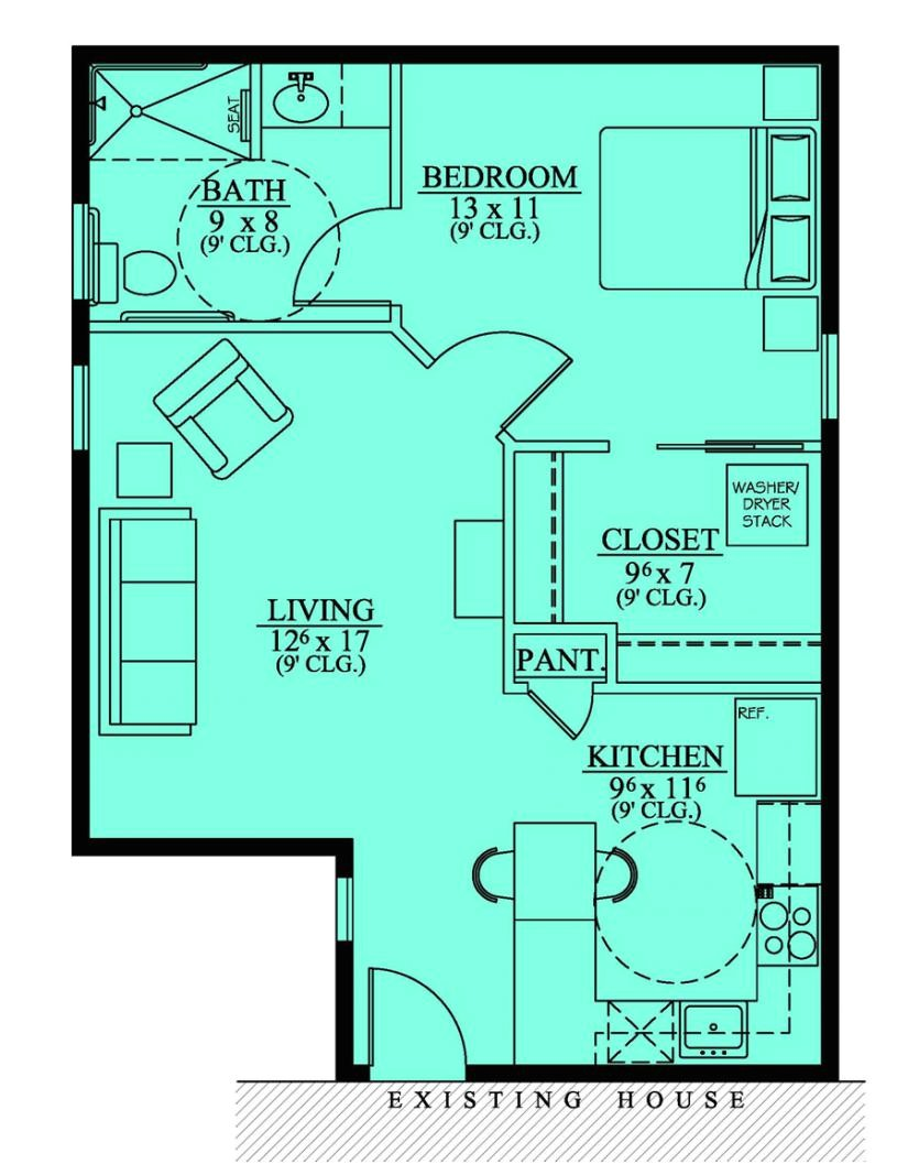 Home Plans with In Law Suite 654186 Handicap Accessible Mother In Law Suite House